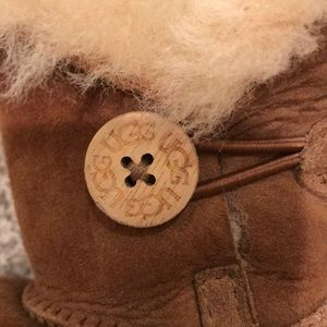 UGG Shoes - Kids toddler UGG brown boots with faux fur size 7